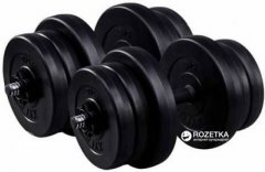 Гантели RN-Sport битумные по 21 кг комплект 2шт (BD-21)