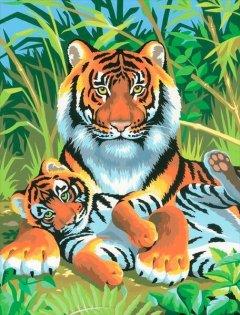 Набор для творчества Sequin Art Painting by numbers Junior Tigers 23x30 см (SA0029)