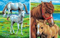 Набор для творчества Sequin Art Painting by numbers Junior-Pairs Horses 23x30 см (SA0215)