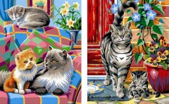 Набор для творчества Sequin Art Painting by numbers Junior-Pairs Cats 23x30 см (SA0213)