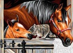 Набор для творчества Sequin Art Painting by numbers Senior Stable Dooor Trio 38х29 см (SA1523)