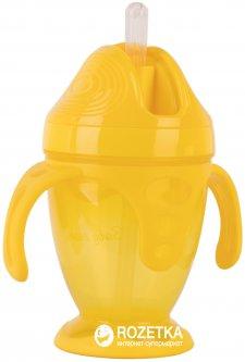Поильник Baby Team с силиконовой трубочкой и ручками 220 мл (5011_желтый)