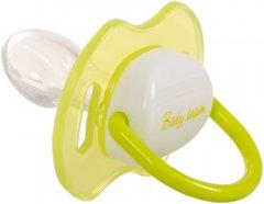 Пустышка силиконовая Baby Team ортодонтическая с колпачком и кольцом светящимся ночью (3008)