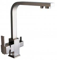 Смеситель кухонный с подключением к фильтру GLOBUS LUX GLLR-0111-8-StSTEEL