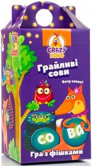 Игра настольная Vladi Toys Crazy Koko Шальные совы. Вижу слово! (Укр) (VT8033-04)