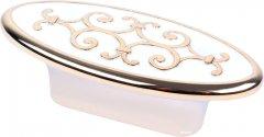 Мебельная ручка Bosetti Marella D 24134.32 Золото полированное с белым (VR44483)