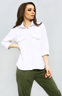 Рубашка ISSA PLUS 11578 M Белая (issa2000283723618)