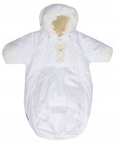 Зимний комбинезон-конверт Lenne Bliss 18300/001 50 см Белый (4741578221331)