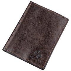 Кожаная обложка для автодокументов Grande Pelle leather-11191 Коричневая