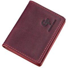 Кожаная обложка для автодокументов Grande Pelle leather-11192 Бордовая
