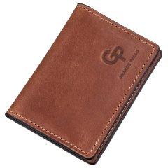 Кожаная обложка для автодокументов Grande Pelle leather-11187 Коричневая