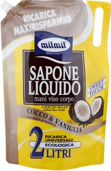 Жидкое мыло MilMil Кокос и ваниль 2 л (8004120903953)
