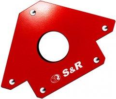 Магнитный угольник S&R для сварки до 23 кг угол 45°, 90°, 135° (290102100)