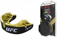 Капа OPRO Gold UFC Hologram Black Metal/Gold (002260001)