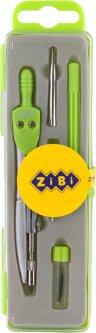 Готовальня ZiBi Basis 5 предметов Зеленая (ZB.5304BS-04)