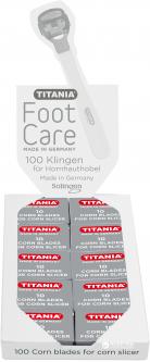 Лезвия педикюрные 100 шт Titania 3100/100 Box (3100-100 BOX)