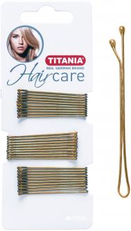 Зажимы для волос 5 см Titania 8061/A 30 шт Золотистые (8061-А)