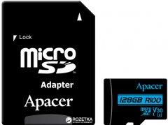 Apacer microSDXC 128GB UHS-I U3 V30 (R100 MB/s) + SD-adapter (AP128GMCSX10U7-R)