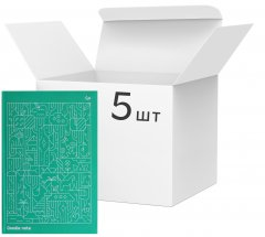 Упаковка блокнотов 4Profi Profiplan Two in one Doodle note A5 в точку 64 листа Green 5 шт (901999)