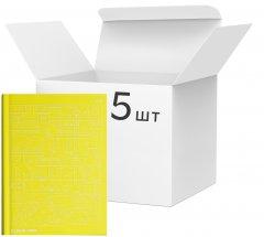 Упаковка блокнотов 4Profi Profiplan Two in one Doodle note A5 в точку 64 листа Yellow 5 шт (902002)