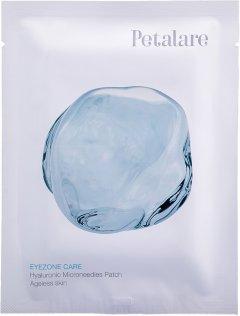 Патч с микроиглами из гиалуроновой кислоты под глаза омолаживающие Petalare EyeZone 1 саше на 1 процедуру (8809408020045)