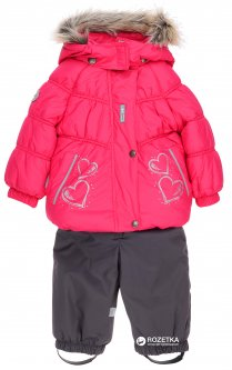 Зимний комплект (куртка + полукомбинезон) Lenne Hearty 18316/381 74 см Малиново-серый (4741578253400)