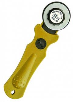 Ручной роликовый нож KW-Trio 03803 диаметр 45 мм Желтый (2000022353014)