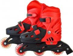 Роликовые коньки размер 30-34 PVC Красные (SC190155-красные)
