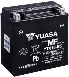 Мото аккумулятор Yuasa 12V 14.7Ah MF VRLA Battery YTX16-BS (сухозаряжений) (YTX16-BS)