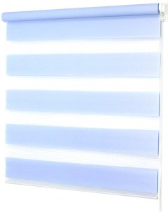 Ролета Деко-Сити мини День/Ночь, 68x170 см, ткань синтетическая, Синий (39006068)