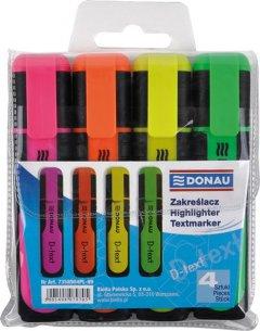 Набор текст-маркеров Donau D-Text 1-5 мм 4 цвета (7358904PL-99)
