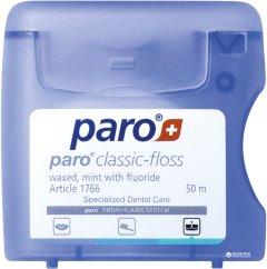 Зубная нить Paro Swiss classic-floss вощеная с мятой и фторидом 50 м (7610458017661)