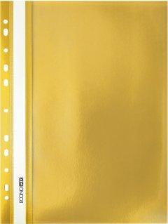 """Набор папок-скоросшивателей Economix А4 с перфорацией, фактура """"апельсин"""" 120/160 мкм 10 шт Желтый (E31508-05_1)"""