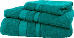 Набор махровых полотенец FaDolli Ricci Изумруд 40x70, 50x90 и 70x140 см (УЗ0101_Из)