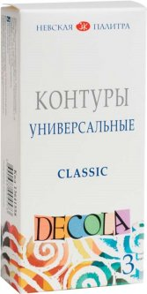 Набор контуров Невская палитра Decola 3 цвета 18 мл (4690688004573)
