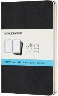 Набор записных книг Moleskine Cahier 9 x 14 см 3 шт по 64 страницы в точку Чёрный (8058341719206)