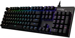Клавиатура проводная HyperX Alloy FPS RGB Kailh Speed Silver USB (HX-KB1SS2-RU)