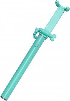 Монопод для селфи Grand-X Elegant с кабелем U-крепление Бирюзовый (E3UTQ)