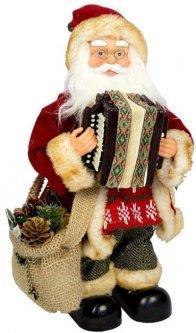 Фигурка Дед Мороз mag-2000 музыкальный с аккордеоном 33 см Красный (230228) (5102681230228)