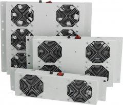 Вентиляционная панель Mirsan 4 вентилятора, термостат в комплекте RAL 7035 (MR.FAN4AT.02)