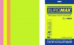 Набор офисной цветной бумаги Buromax Neon А4 80 г/м2 4 цвета 50 листов (BM.2721550E-99)