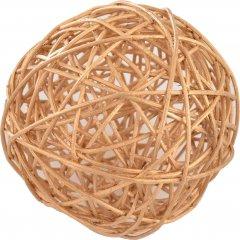 Елочный шар Новогодько (YES! Fun) ротанг Золотистый 10 см (973326) (5056137144440)