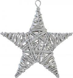 Елочная игрушка Новогодько (YES! Fun) Звезда 15 см Серебристая (973300) (5056137144310)