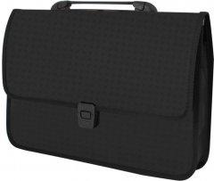 Портфель Economix на застежке фактура Вышиванка Черный (E31641-01)