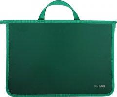 Портфель пластиковый Economix А4 на молнии 2 отделения Зеленый (E31630-04)