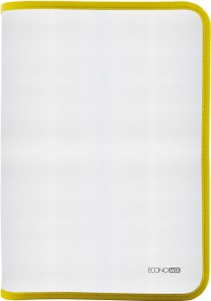 Папка-пенал пластиковая Economix на молнии А4 Желтый (E31644-05)