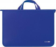 Портфель пластиковый Economix А4 на молнии 2 отделения Синий (E31630-02)