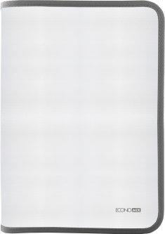 Папка-пенал пластиковая Economix на молнии А4 Серый (E31644-10)