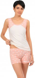 Комплект (майка + шорты) BARWA garments 0200-133 XL Персиковый (2112001334522)