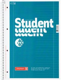 Колледж-блок Brunnen А4 DUO в клетку 40 листов/в линейку 40 листов Голубой (10 679 74)